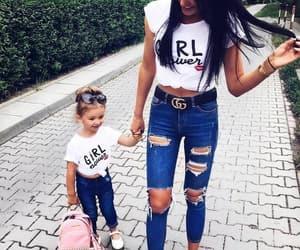 girls and mummy image