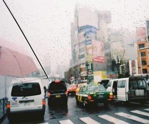 car, rain, and street image