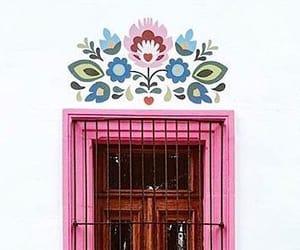 door, pink, and méxico image