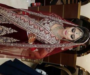 wedding dress, indian bride, and muslim bride image