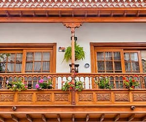 balcony, facade, and house image