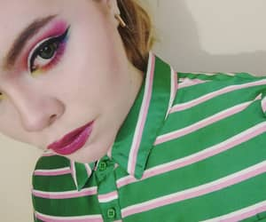 glitter, circle lenses, and makeup image