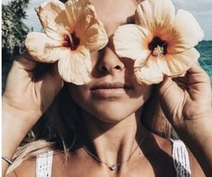 fashion, flowers, and girl image