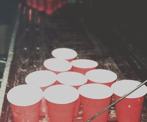party, beer, and beer pong image