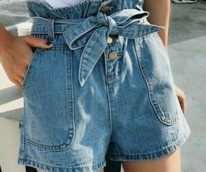 denim shorts, fashion, and summer style image