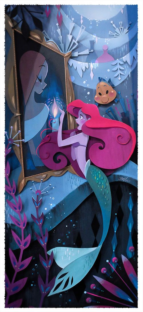 disney, princess, and the little mermaid image
