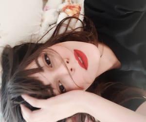 outfit style fashion, red lips lipstick, and pretty beautiful beauty image