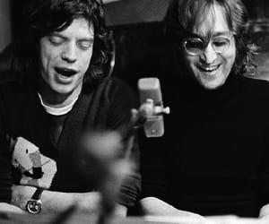 john lennon, mick jagger, and Yoko Ono image
