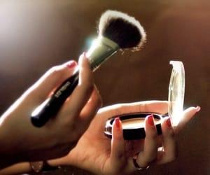 blush, nails, and fashion image