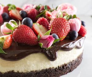 cheesecake, sweets, and chocolate image