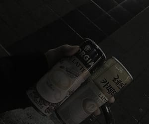 aesthetic, dark, and drink image