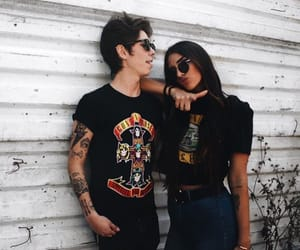 aesthetic, black, and couple image