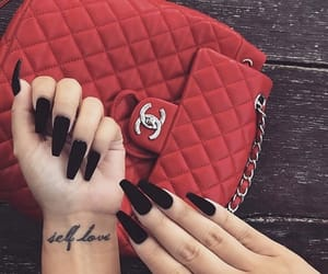 nails, black, and red image