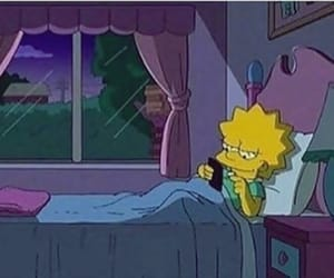 phone, the simpsons, and bed image