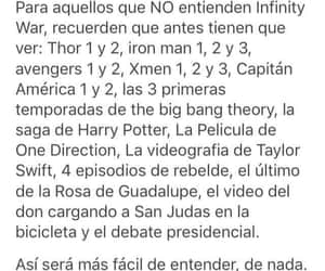 frases, Marvel, and peliculas image
