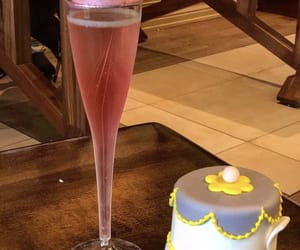 pink, tea pot, and champagne image