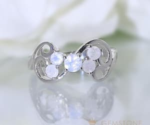 rings, moonstone ring, and gemstone rings image