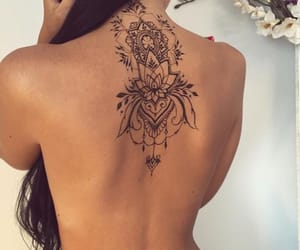 back, flower, and shoulder blade image