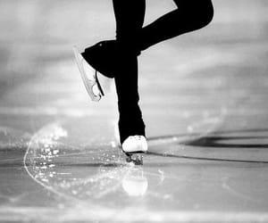 ice skating, skate, and ice image