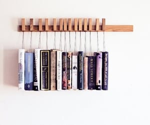 book, bookshelf, and crafts image