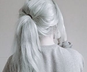 model and silver hair image