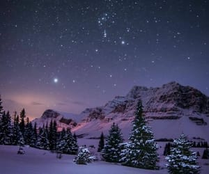 winter, landscape, and night image