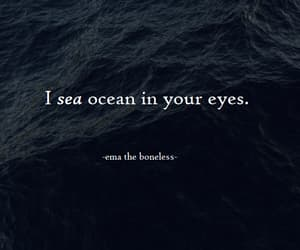 eyes, ocean, and quote image
