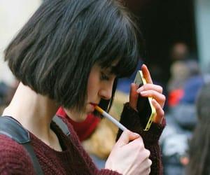 girl, smoke, and style image