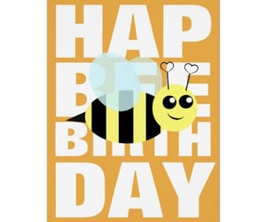 bees, birthday, and greeting cards image