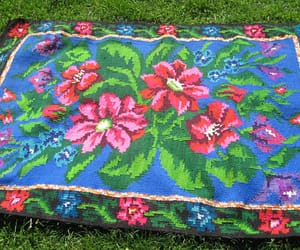 etsy, floral carpet, and handmade rugs image