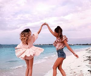 beach, summer, and friendship image