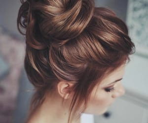 hairstyle and messy bun image