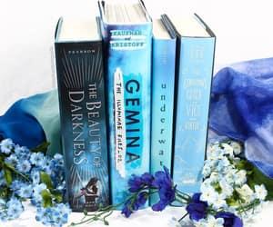 bibliophile, books, and blue image