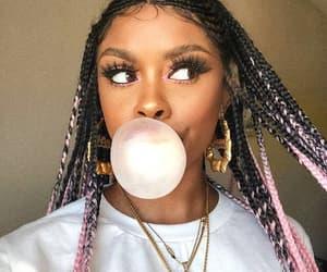 braids, bubblegum, and natural hair image