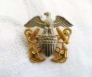 etsy, military jewelry, and vintagevoguetreasure image