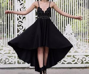 black dress, party dress, and prom dress image
