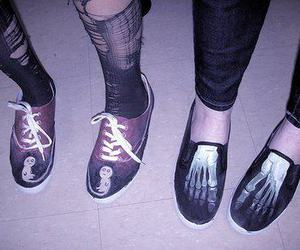 shoes, skeleton, and vans image