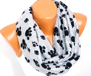 etsy, infinity scarf, and dog footprint image