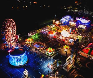 bright, carnival, and lights image
