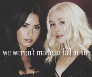christina aguilera, demi, and demi lovato image