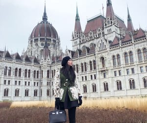budapest, fashion, and parlament image