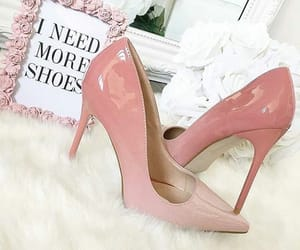 fashion, high heels, and pastel image