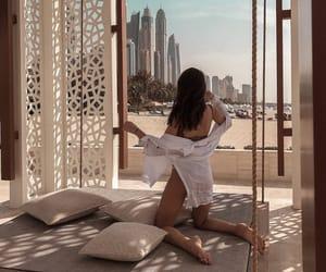 Dubai, girl, and summer image