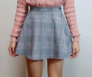 aesthetic, pink rose, and short skirt image