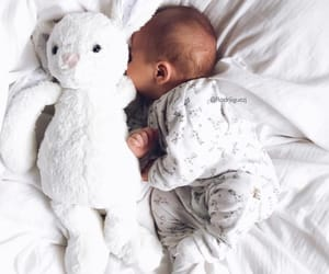 baby, bed, and doudou image