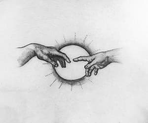 god, hands, and peace image