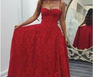 lace dress, prom dress, and red dress image
