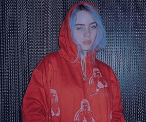 billie eilish, aesthetic, and red image
