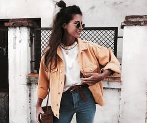 fashion, girl, and yellow image