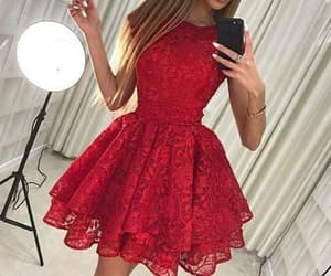 lace dress, homecoming dress, and outfit image